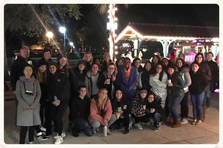 Girl Boarders Enjoy Night Out in St. Augustine