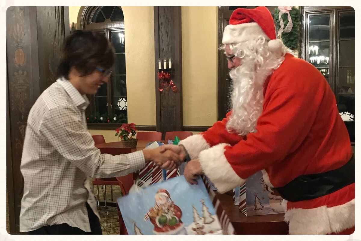 Santa, Cookies Make Holidays Festive for Boy Boarders