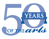 50 years of the arts logo